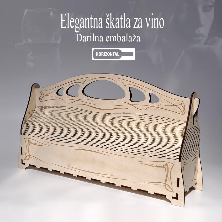 Darilna škatla za vino. Cena - 15€/kom