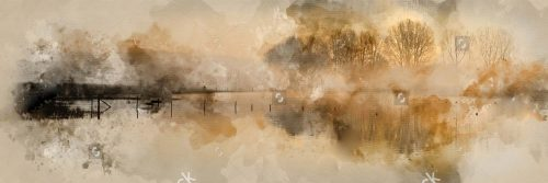 stock-photo-digital-watercolour-painting-of-beautiful-tranquil-panorama-landscape-of-lake-in-mist-1152658265